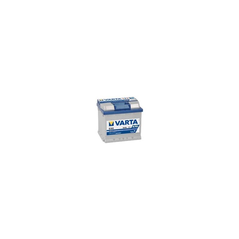 AKUMULATOR VARTA BLUE  C22  12V  52Ah  470A P+
