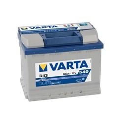AKUMULATOR VARTA BLUE  D43  12V  60Ah  540A L+