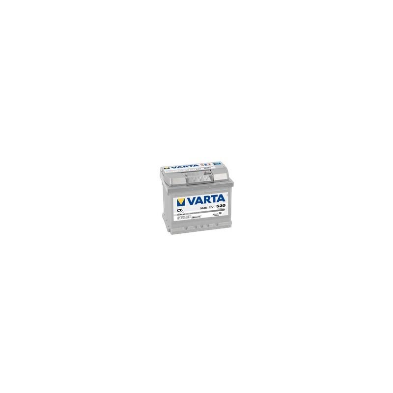 AKUMULATOR VARTA SILVER  C6  12V  52Ah  520A P+