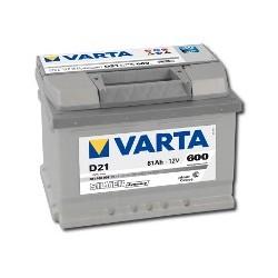 AKUMULATOR VARTA SILVER  D21  12V  61Ah  600A P+