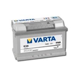 AKUMULATOR VARTA SILVER  E38  12V  74Ah  750A P+